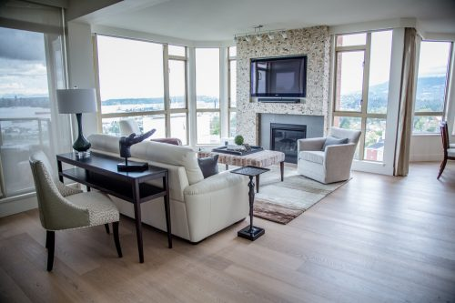 North Vancouver View Condo Luxury Renovation, Transitional Style